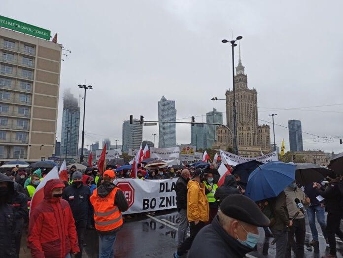 Protest rolników - Warszawa 13.10.2020