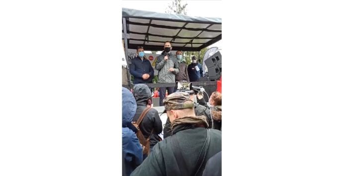 Władysław Kosiniak-Kamysz podczas protestu rolników w Warszawie 13.10.2020